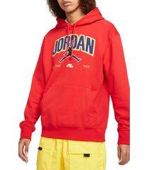 men's jordan jumpman pullover hoodie, size xx-large - red