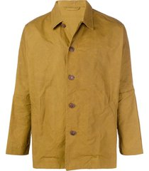 casey casey higa dropped shoulder jacket - yellow
