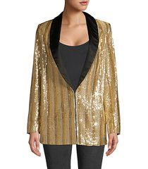 jace oversize shawl collar sequin blazer