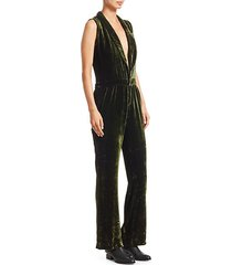 velvet fluid jumpsuit