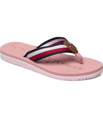 tommy ribbon flat beach sandal shoes summer shoes flat sandals rosa tommy hilfiger