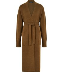 franklin brown belted cashmere cardigan