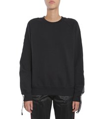 forte couture sweatshirt with side logo band