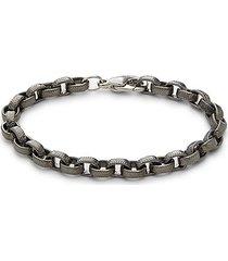 black rhodium-plated sterling silver bracelet