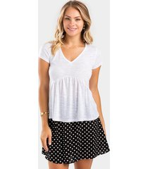 aidy tiered babydoll top - white