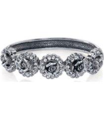 2028 silver-tone crystal flower bracelet