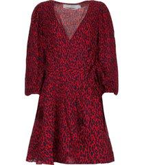 jurk met luipaardprint boina  rood