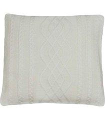 capa almofada tricot 40x40cm c/zãper sofa trico cod 1026 off white - bege - feminino - dafiti