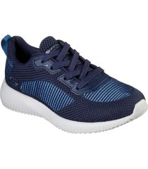 zapatilla bobs squad - turn up azul marino skechers