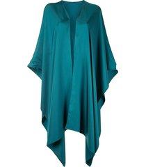 lapointe drape-sleeve twill shawl - green