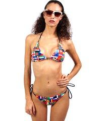 bikini rojo calypsonia triángulo rio tanga flags