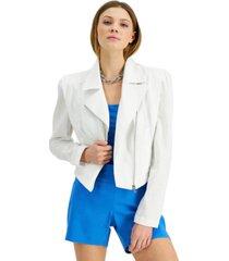 inc cotton gauze moto jacket, created for macy's