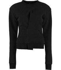 ben taverniti unravel project cotton crew-neck sweatshirt