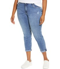 women's kut from the kloth rachael distressed roll cuff mom jeans