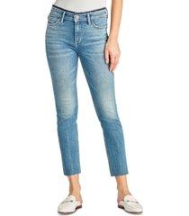 sam edelman denim the kitten mid rise straight-leg ankle jeans