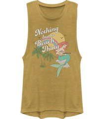 disney juniors' princesses nothing but a beach thing festival muscle tank top