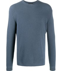 ermenegildo zegna cashmere-wool mix knit sweatshirt - blue