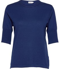 claire elbow sleeve top t-shirts & tops short-sleeved blauw filippa k