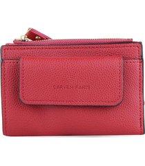 billetera lily roja rojo carven
