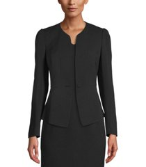 anne klein one-button peplum jacket