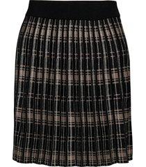 fqcloe-sk-check kort kjol svart free/quent