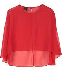 pinko fiorellino short cape
