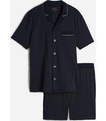 pigiama corto aperto in cotone supima
