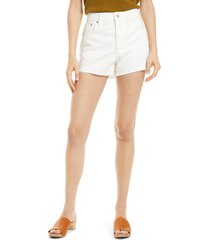 madewell relaxed denim shorts, size 29 in tile white at nordstrom