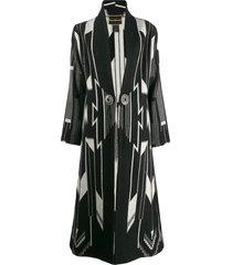 jessie western engraved button coat - black