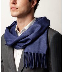 sciarpa da uomo, lanieri, cashmere seta blu, autunno inverno | lanieri