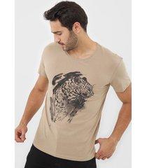 camiseta jack & jones crockery  bege - bege - masculino - algodã£o - dafiti