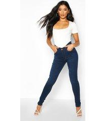 high rise skinny jeans met 5 zakken, indigo