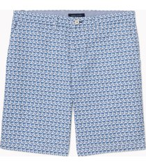 """tommy hilfiger adaptive men's 9"""" shark critter print shorts with velcro closure and magnetic fly"""