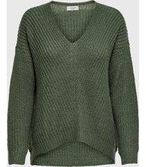sweater jacqueline de yong verde - calce holgado