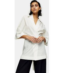 *white poplin wrap shirt by topshop boutique - white