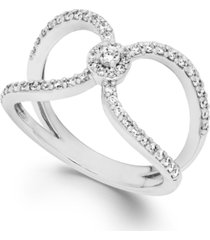 diamond cutout ring in 14k white gold (1/2 ct. t.w.)
