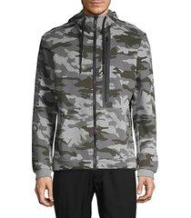 camouflage fleece hooded jacket