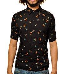 camisa andy roll clothing birdolic preta - kanui