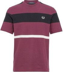 bold striped t-shirt t-shirts short-sleeved lila fred perry