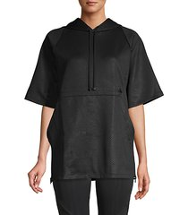 short-sleeve drawstring hoodie