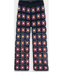 scotch & soda wide leg crocheted trousers