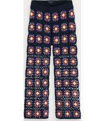 scotch & soda wide leg crocheted trousers