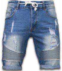 korte broek enos korte broeken - slim fit ribbed look shorts -