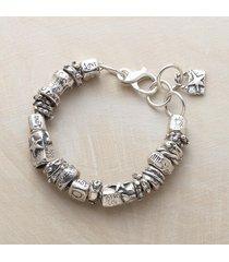 jes maharry all silver charmed life bracelet