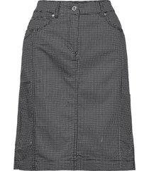 casual skirt knälång kjol grå brandtex