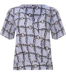 blusa cruzada cadenas color negro, talla 10