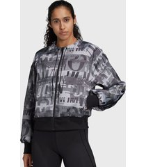 chaqueta adidas performance cover up aiq1 gris - calce regular
