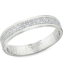 zaxie by stefanie taylor zaxie high society pave hinged bangle bracelet