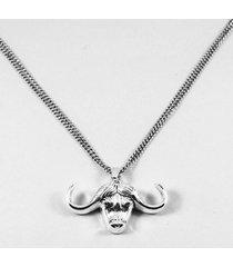collar gris diesel búfalo