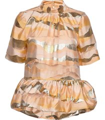 tolu, 923 organza blouses short-sleeved rosa stine goya